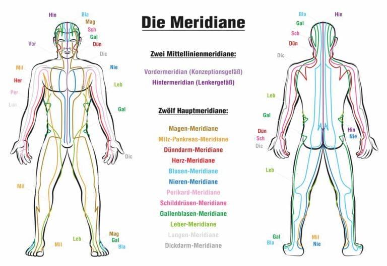 Lebensenergie Meridiane