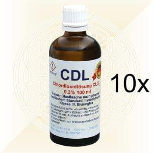 10x CDL CDS Chlordioxidlösung 100ml