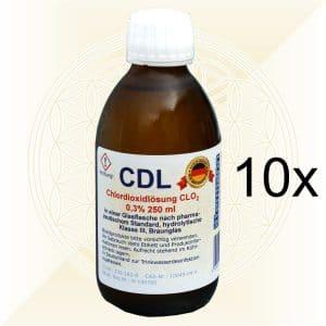 10x CDL CDS Chlordioxidlösung 250ml