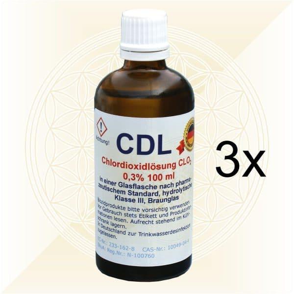3x CDL CDS Chlordioxidlösung 100ml