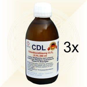 3x CDL CDS Chlordioxidlösung 250ml